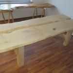 Ahorn Tisch (zweiteilig)