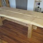 Ahorn Tisch (zweiteilig)(1)
