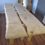 Ahorn Tisch (zweiteilig)(2)