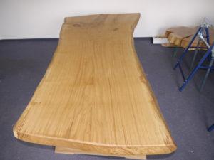 Tischplatte aus Eiche behandelt