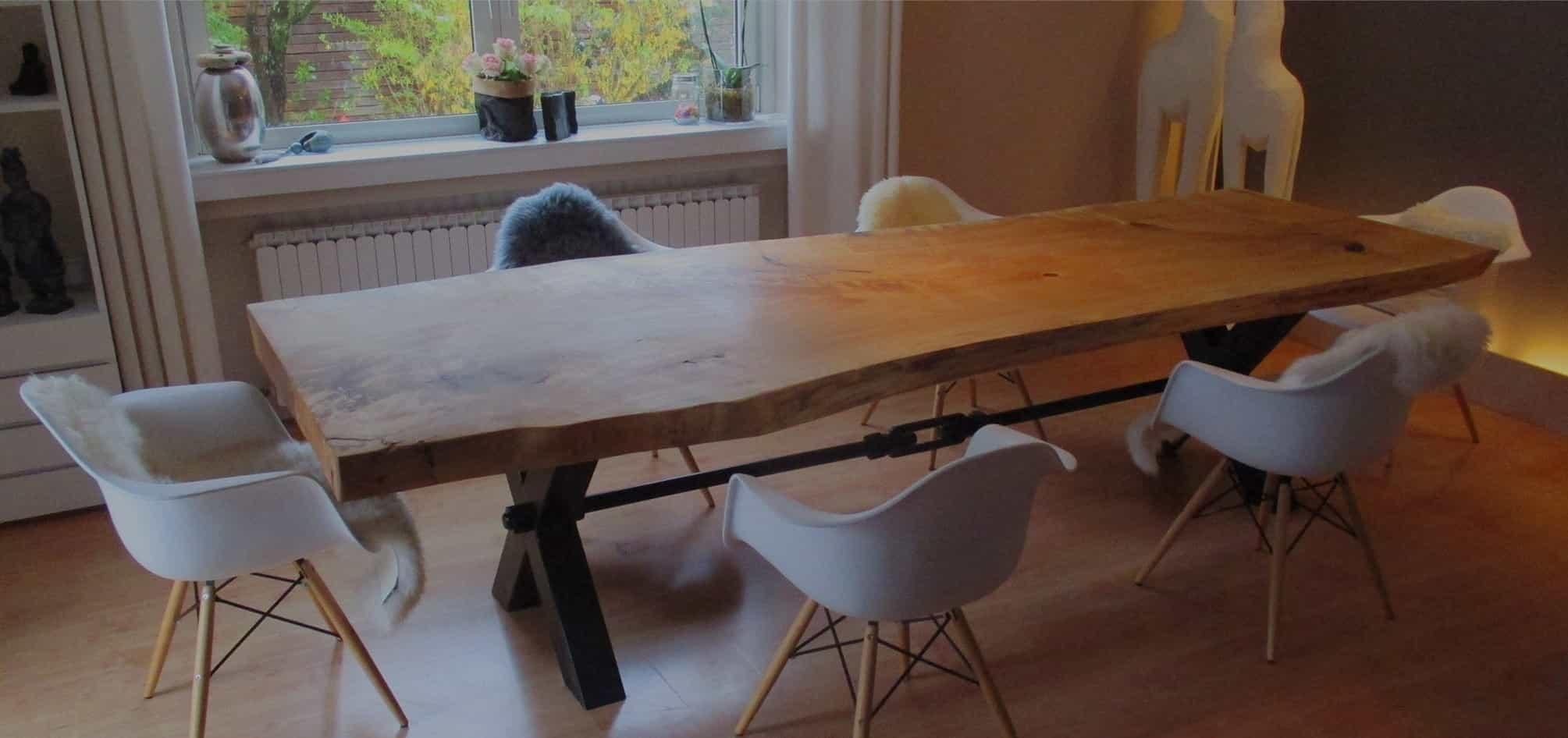 Der Stammholztisch Rustikale Tischplatten Aus Massivholz